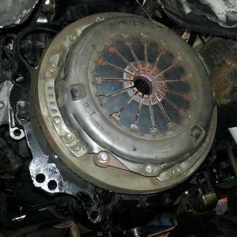 Замена сцепления Mitsubishi Pajero 4