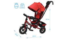 Детский трёхколёсный велосипед с ручкой ( синий ) Sweet baby - колёса надувные