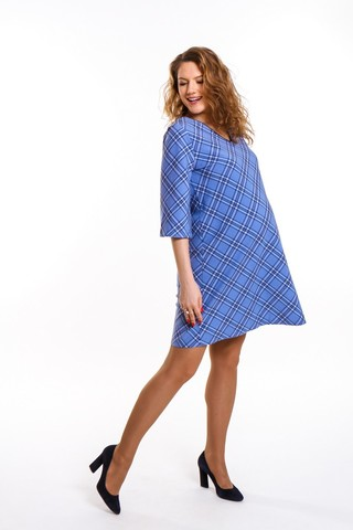 Платье 09403 синий