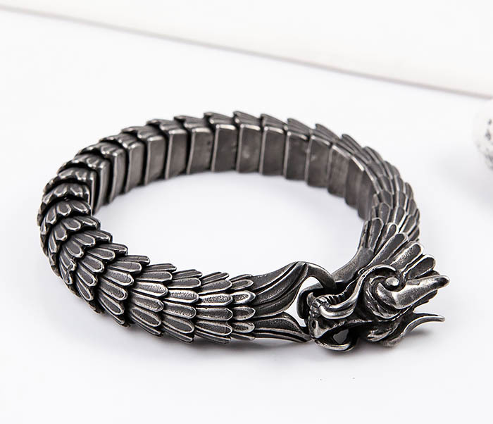 BM557 Оригинальный стальной браслет «Дракон» фото 06