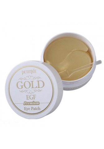 PETITFEE Hydro Gel Eye Patch Premium Gold & EGF Гидрогелевые патчи 60 шт