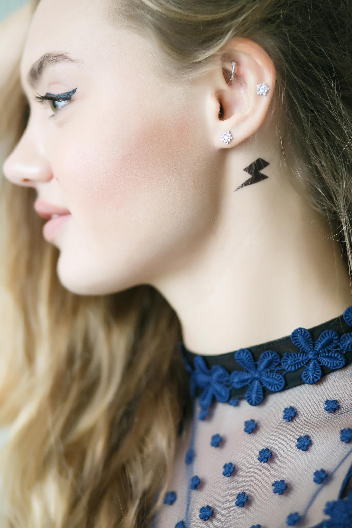 Переводная татуировка Face Tattoo