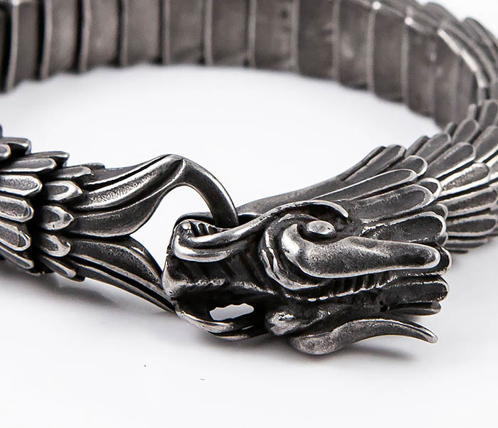 BM557 Оригинальный стальной браслет «Дракон» фото 07