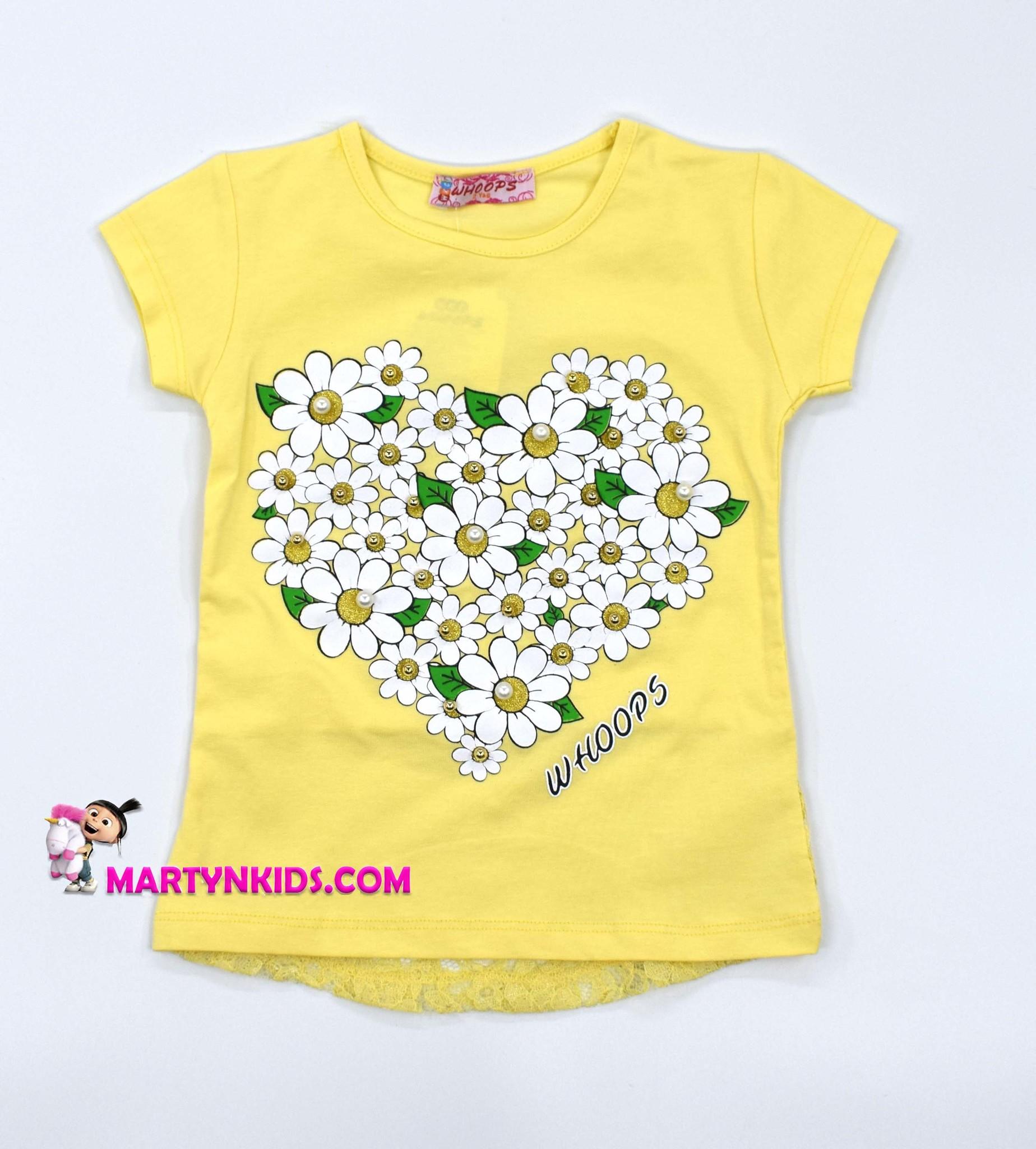 2232 футболка Ромашки-сердечко