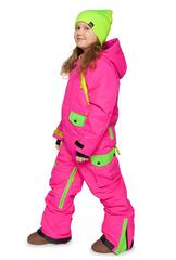 Утепленный сноубордический комбинезон для девочек Кул Зон розовый