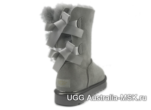 UGG Bailey Bow II Metallic Grey