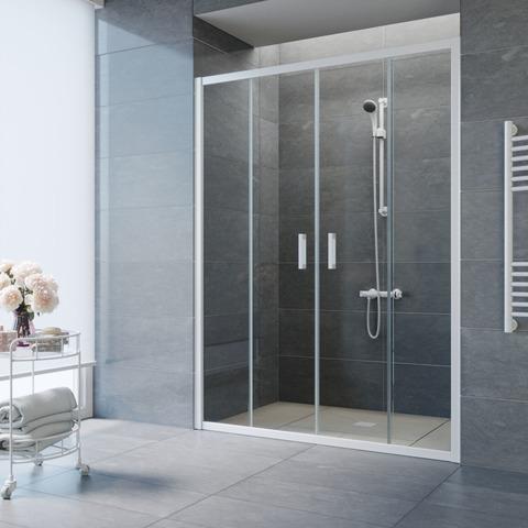 Душевая дверь в нишу Vegas Glass Z2P профиль белый, стекло прозрачное