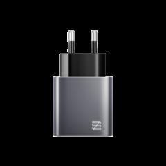 Зарядное устройство для iPhone LENZZA Piazza Metallic Wall Charger 5В, 2,1А 2x USB. Цвет графит