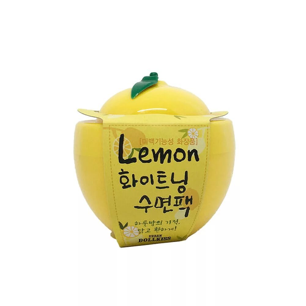 Маска ночная осветляющая лимон Urban Dollkiss Lemon Whitening Sleeping Pack, 100мл