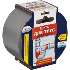 Клейкая лента для труб (ПВХ) Unibob 48мм х 10м, серая