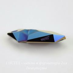 6912 Подвеска Сваровски Kaputt Crystal Metallic Blue (28 мм) С подписью  Jean Paul GAULTIER