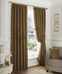 Elton (Сетло-коричневый). Готовые шторы.