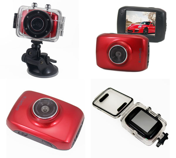 ACTION CAMCORDER HD red