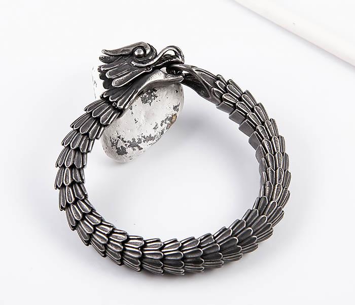 BM557 Оригинальный стальной браслет «Дракон» фото 10
