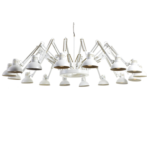 replica  Dear Ingo сhandelier lamp white (12 lamps)