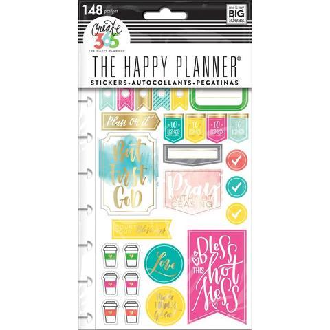 Блок со стикерами для ежедневника Create 365 Planner Stickers- Faith Gratitude - 148шт.