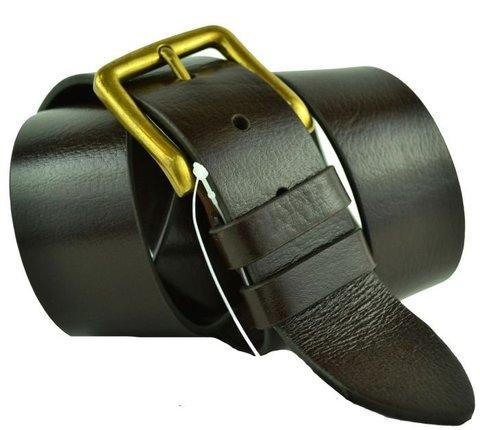 Ремень мужской коричневый кожаный 40 мм Roberto Napoli 40R.Napoli-076