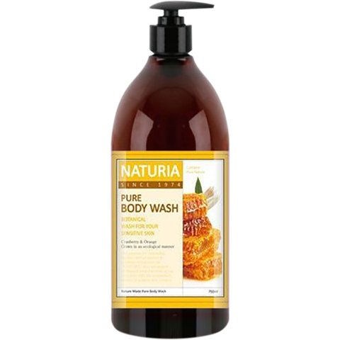 EVAS NATURIA Гель для душа МЕД/ ЛИЛИЯ PURE BODY WASH Honey & White Lily, 750 мл