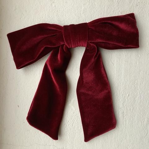 Заколка для волос Шантель, красная