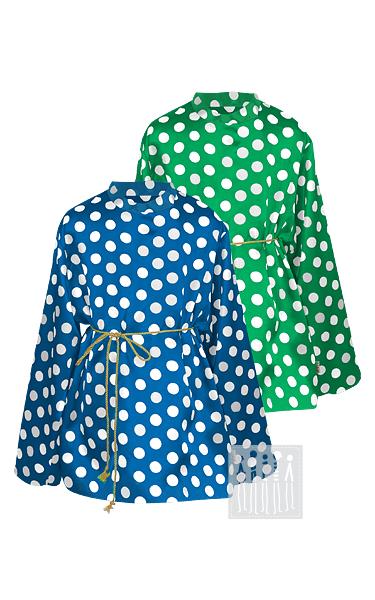 Рубашка в горошек на выбор синяя, зеленая, красная. Купить в Москве, Санкт-Петербурге, либо через интернет магазин с доставкой по России!