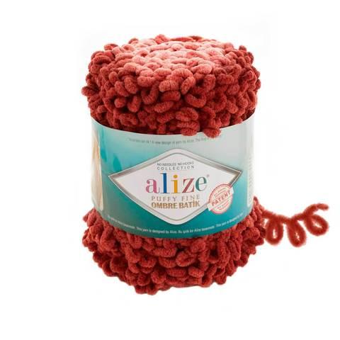 Купить Пряжа Ализе Пуффи Файн Омбре Батик - цвет 7300 | Интернет-магазин пряжи «Пряха»