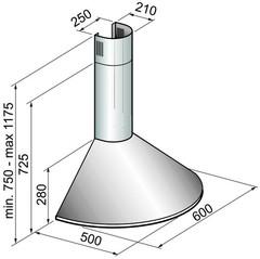 Вытяжка Korting KHC 6930 RC - схема