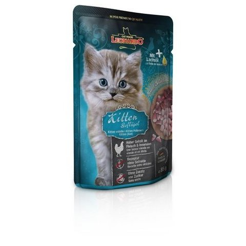 Leonardo Finest Selection Kitten Poultry с птицей для котят