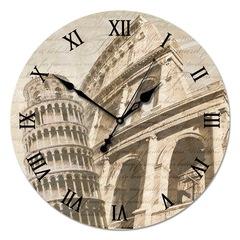 """Настенные часы из стекла Династия 01-004 """"Старинная Италия"""""""