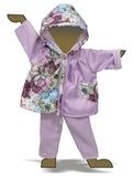 Плащ комбинированный - Демонстрационный образец. Одежда для кукол, пупсов и мягких игрушек.