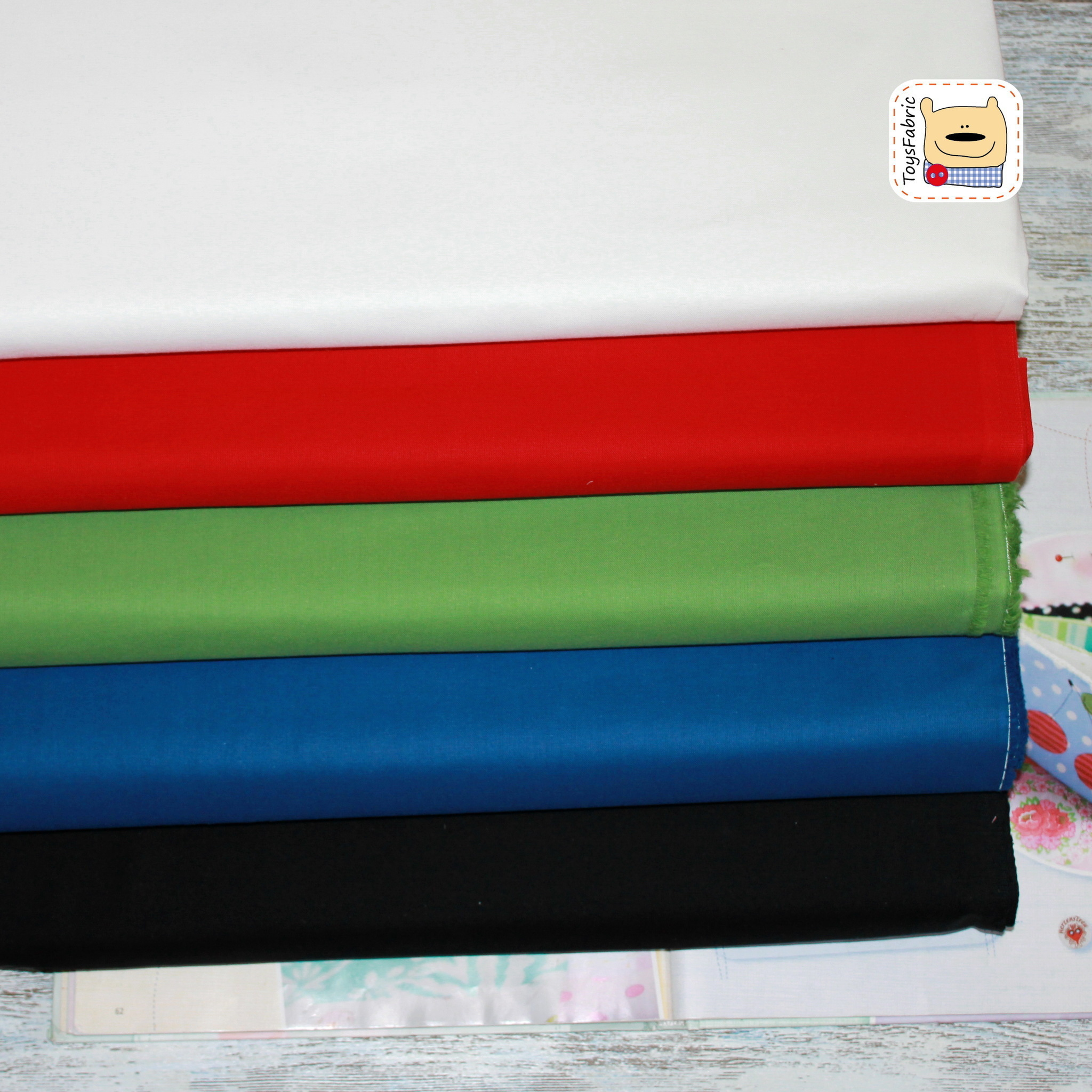 Ткань для пэчворка 20518 (однотонный белый)