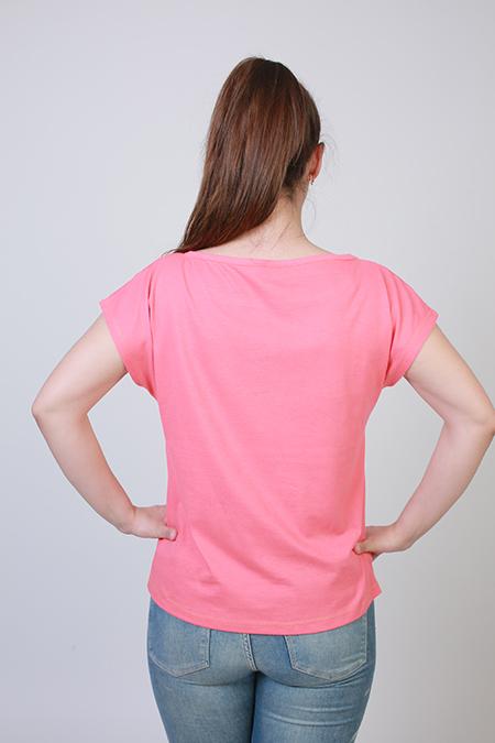 Лекала женской футболки со спущенной проймой