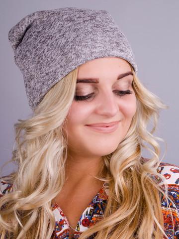 Фэшн. Молодёжные женские шапки. Серый ангора флис.