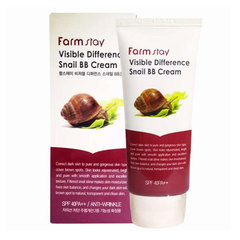 Farmstay Visible Difference Snail BB Cream - Восстанавливающий ВВ-крем с муцином улитки