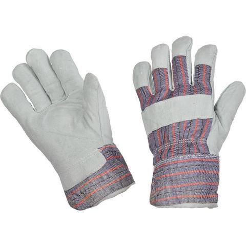 Перчатки утеплённые спилковые комбинир.Ангара