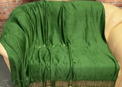 Бамбуковый плед 150x200 зеленый