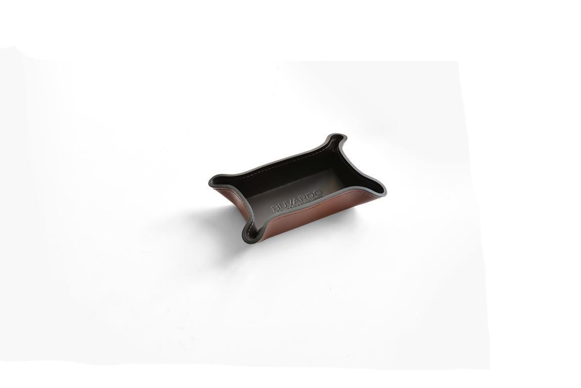 Лоток малый BUVARDO PREMIUM из кожи Full Grain Toscana/Cuoietto шоколад