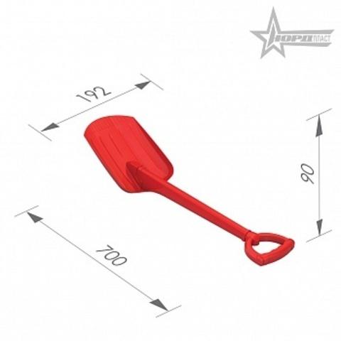 Лопата 70см цвет в ассортим/130/1