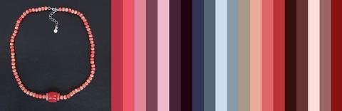 с чем носить бусы розовый коралл - цветовая шпаргалка