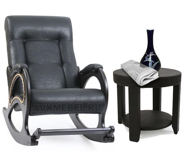 Деревянные Кресло-качалка Модель 44 Экокожа с журнальным столиком м44-столик_opt.jpg