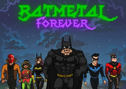 Открытка Batmetal