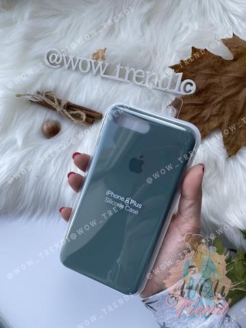 Чехол iPhone 8/7 Plus Silicone Case Full /pine green/