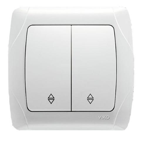 Проходной выключатель двойной VIKO Carmen  белый