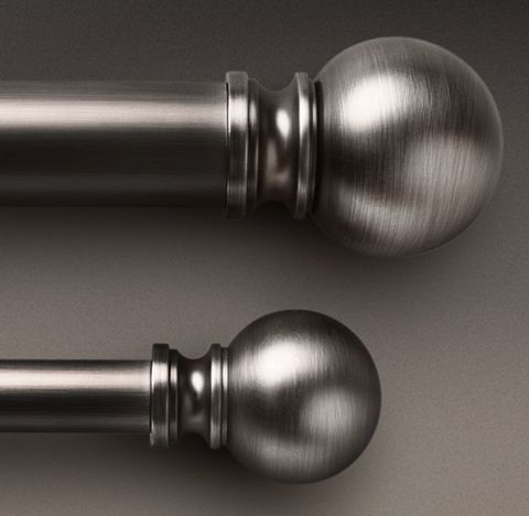Classic Ball Finial & Rod Set - Antique Silver