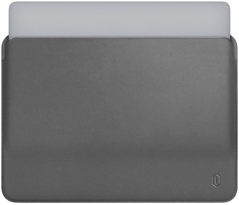 Папка конверт для MacBook 15,4'' Wiwu Skin Pro Leather /gray/