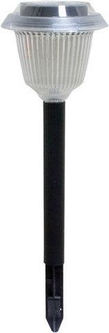 Светильник садово-парковый на солнечной батарее, 1 белый LED, черный, PL300 (Feron)