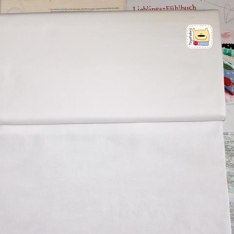 Однотонный белый хлопок для пэчворка