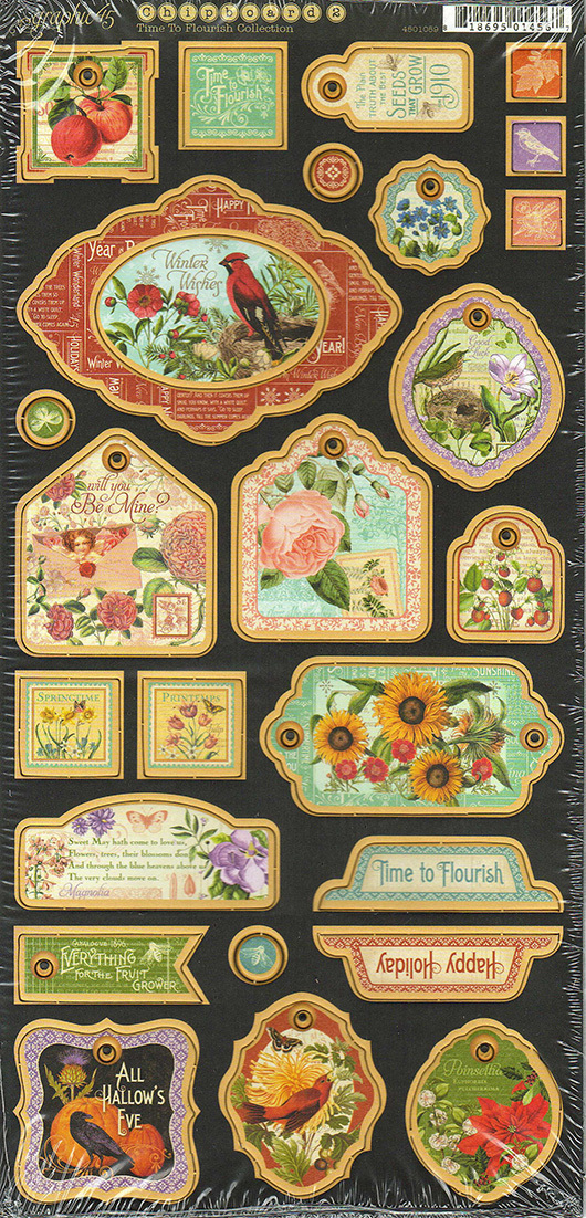 Чипборд Time to Flourish Decorative Graphic 45