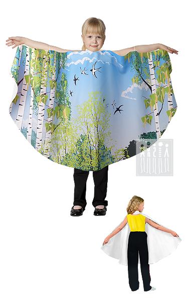 Купить сценический костюм Берёзки (полупончо) для девочки в Интернет-магазине Мастерская Ангел-Карнавальные костюмы или офисах в Москве, Санкт-Петербурге с доставкой по Москве, Санкт-Петербургу, России.