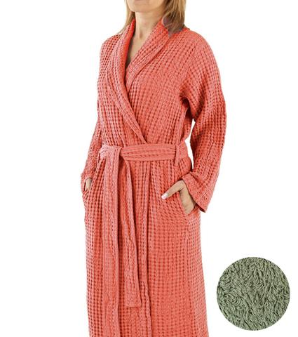 Элитный халат вафельный Pousada 226 Sage от Abyss & Habidecor