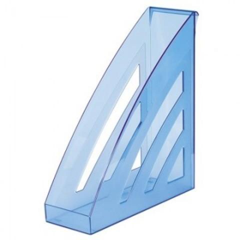 Вертикальный накопитель Attache City 90мм прозр. Синий